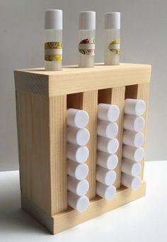 Lip Balm Tube Display 3 Slots Wooden Lip Balm Tube Tower Display Bottle Display, Soap Display, Table Top Display, Lip Balm Labels, Diy Lip Balm, Wine Lips, Roll On Bottles, Merchandising Displays, Wooden Diy