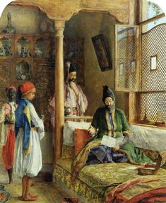 An Oriental Interior (A Startling Account, Constantinople) by John Frederick Lewis - 1865
