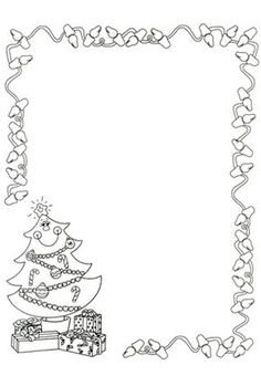 Black And White Christmas Border Clipart - Christmas Border, Christmas Frames, Noel Christmas, Christmas Clipart, Christmas Colors, Xmas, White Christmas, Christmas Activities, Christmas Crafts For Kids