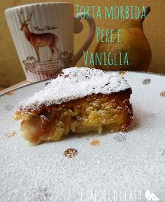 Torta morbida pere e vaniglia - ricetta vegana e originale