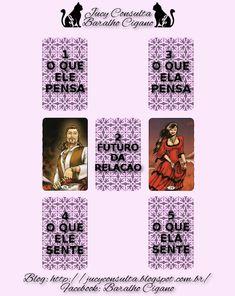 BARALHO CIGANO: MÉTODO   DO RELACIONAMENTO Magick, Witchcraft, Moon Spells, Tarot Spreads, Instagram Blog, Spirituality, Psychic Readings, Tarot Cards, Cartomancy