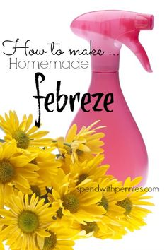 Homemade Febreze Pin it to SAVE it and share it! Follow Spend With Pennies on Pinterest Love air fresheners but hate the price? Make your own with these super simple Febreze recipes! Recipe #1 If no one in your home is allergic to fabric softener, (which...