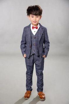 803aef81a790b Boys Wedding Suits Kid Tuxedos 5pieces