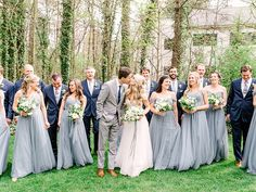 Super bridal party blue suits the bride 32 Ideas Outdoor Wedding Pictures, Bridal Pictures, Navy Bridesmaid Dresses, Bridesmaids And Groomsmen, Blue Dresses, Pastel Bridesmaids, Navy Bridal Parties, Wedding Suits, Wedding Dress