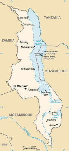 Map of Malawi. Malawi is among the world's least-developed countries. The economy is heavily based in agriculture, with a largely rural population. Lilongwe is the capital, Independence - from the United Kingdom 6 July 1964. Official languages    Chichewa and English.