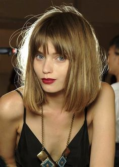 Shoulder-Length Cuts with Bangs - Bing images