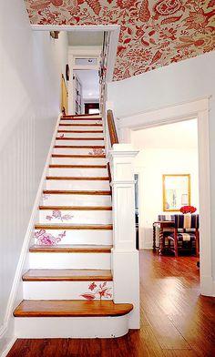 Idee per decorare scale Shabby Chic n.06