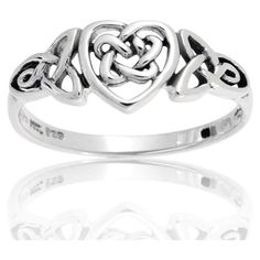 Bling Jewelry Stering Silver Celtic Knotwork Heart Ring