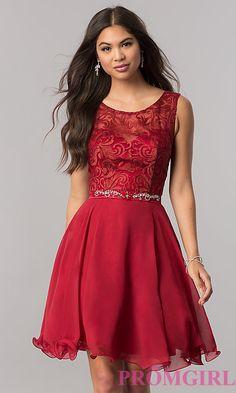 Custom Made Fancy Chiffon Short Semi-Formal Chiffon Dress With Jewels Dama Dresses, Court Dresses, Chiffon Dresses, Party Dresses, Blush Dresses, Prom Gowns, Homecoming Dresses, Prom Dress, Red Semi Formal Dress