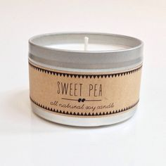 SWEET PEA. 8 oz Candle. Hand Poured Soy by thetinycollection