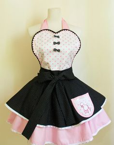Retro Apron for Pin up Girls inspired by Poodle by OliviasStudio, $47.00