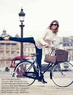 Vogue Paris September 2013...I used to do tricks on my bike every day....I enjoyed it so damn much!