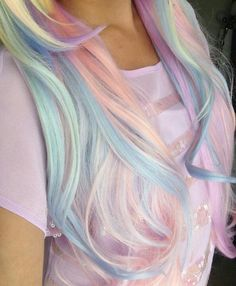 Pastel ombre hair, works best on blonde hair but has a different dimension on darker hair. So pretty like a fairytale