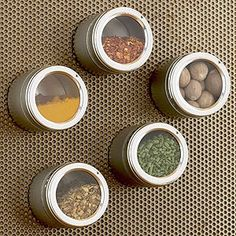 Organize your spices with magnets! #clever