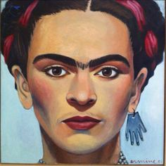 """""""Frida, oil on canvas, 2001 100x100cm #art #oil #painting #icon"""" Photo taken by @ermine on Instagram, pinned via the InstaPin iOS App! http://www.instapinapp.com (10/20/2014)"""