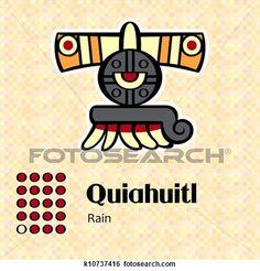 Illustration about Aztec calendar symbols - Quiahuitl or rain Illustration of design, archeology, inca - 31609656 Aztec Symbols, Viking Symbols, Egyptian Symbols, Peace Symbols, Viking Runes, Ancient Symbols, Illustrations Médicales, Mayan Glyphs, Mexico Tattoo