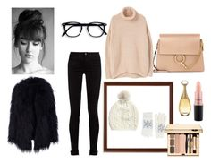 """""""my winter style"""" by pegiiisu ❤ liked on Polyvore featuring Gucci, MANGO, Fits, Chloé, Christian Dior and MAC Cosmetics"""