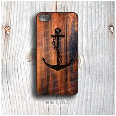 IPhone 5C Case Anchor TOUGH iPhone 5s Case Wood by HelloDelicious