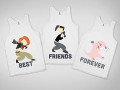 Best Friends Tanks    OHH THIS IS WHAT YOU DO WHEN YOU HAVE 3 BFF'S!! KIM POSSIBLE!!