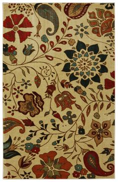 Amazon.com - STAINMASTER Paisley Floral Area Rug, 5-Feet by 8-Feet, Multicolored -
