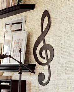 Ideas Music Room Interior Treble Clef For 2019 Woodworking Art Ideas, Room Interior, Interior Design, Weathered Furniture, Tropical Bedrooms, Piano Room, Music Wall, Treble Clef, Indoor Outdoor Living