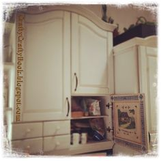 Crafty Crafty Book: Decoupage cupboards door