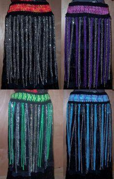 Custom Hairpin Crochet Belly Dance Fringe Belt. $24.99, via Etsy.