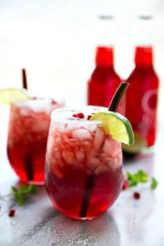 A non-alcoholic sparkling cranberry lime and pomegranate beverage -- perfect for holiday entertaining!
