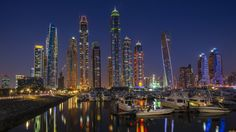 Marina Blue Hour by Dany Eid on 500px