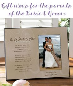 This site has the best gift ideas for parents of the bride and groom! They're thoughful gifts you can give them to thank them for all their help with the wedding!