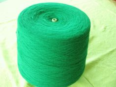 Kelly Green Cone yarn machine knit, crochet or hand knitting available at our web site Stephanies Studio & Yarn and etsy shop stephaniesyarn
