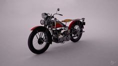 Harley Davidson 1933 VLE 3Ds Max, Vray  More info on http://bit.ly/Zzvy3D