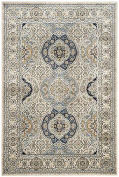 Safavieh Persian Garden Area Rug - This Ivory rug would make a wonderful addition to any house. Silver Carpet, Beige Carpet, Patterned Carpet, Modern Carpet, Red Carpet, Hallway Carpet Runners, Cheap Carpet Runners, Persian Garden, Ancient Persian