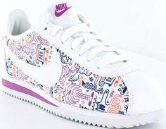 hot sale online f7e9c 21ae2 Nike cortez x steven harrington blanc print