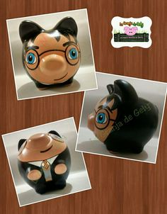 Harry Potter Cute Crafts, Crafts For Kids, Pig Bank, Color Me Mine, Harry Potter, Pottery Painting, Craft Projects, Porcelain, Ceramics