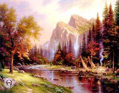 """The Mountains Declare His Glory"" by Thomas Kinkade"