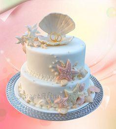 sea wedding cake