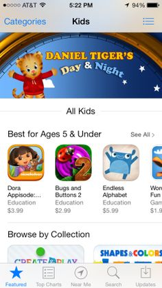"Introducing Apple's New ""Kids"" App Store by SARAH PEREZ Sunday, September 22nd, 2013"