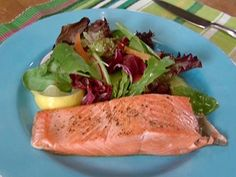 Coho Salmon Fillets recipe from Alton Brown via Food Network Coho Salmon Recipe, Salmon Recipes, Healthy Cooking, Healthy Eating, Healthy Recipes, Clean Eating, Healthy Foods, Yummy Recipes, Keto Recipes