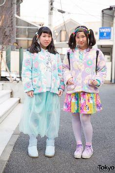 Harajuku Girls in Swimmer Jackets & My Little Pony Skirt