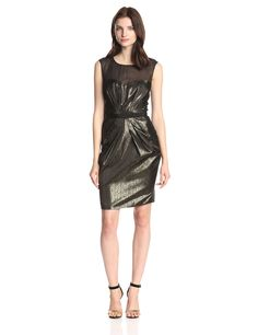 23c646c832e6 ERIN erin fetherston Women s Elise Metallic Satin Capsleeve Dress  Bridesmaid Dress Sale