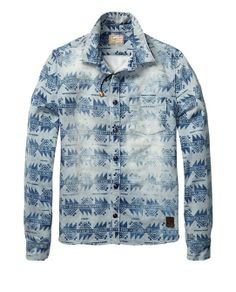 Scotch & Soda - Denim Inspired Worked-Out Shirt