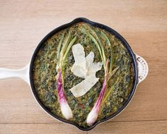 Breakfast Club: A Mixed Herb   Spring Onion Frittata Recipe - The Chalkboard