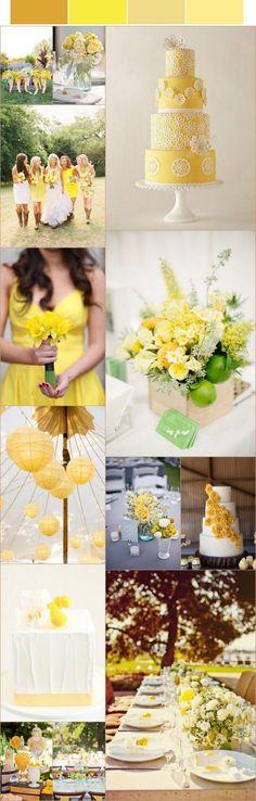 Me encanta el toque de los limones en los centros de mesas.
