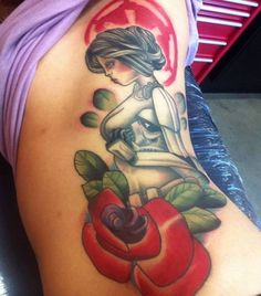 Star Wars Stormtrooper Pinup by Tom Devine - Black Heart Tattoo Studio, Epsom, UK