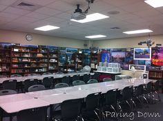 High school classroom organization - the walls king of hurt my ADD, but there are some good ideas here.
