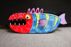 Large Fish (T9) - Wall piece, wood & aluminum.