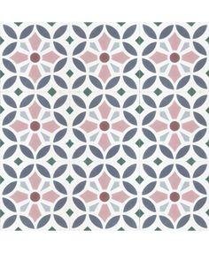 floral pattern multi-colour concrete tile - Trend Topic For You 2020 Tile Design, Pattern Design, Batik Pattern, Geometric Tiles, Encaustic Tile, Concrete Tiles, Handmade Tiles, Hallway Decorating, Color Tile