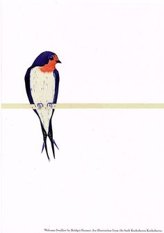 A poster print of an illustration from my childrens book, Kookaburra Kookaburra. - İnteresting İnformation And Curiosities Bird Illustration, Illustrations, Bird Quilt, Bird Patterns, Bird Pictures, Bird Design, Bird Prints, Fabric Painting, Bird Art