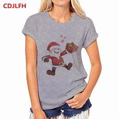 CDJLFH Summer Gray Christmas Tops Tee ladies short t shirt women t shirt  female tshirt woman b90db0779d60